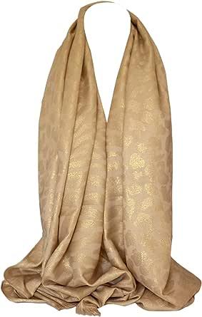 Zweiseitige Reversible Schimmer Tiger /& Leopard Animal Print Wrap Schal Stola Schal