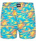 Happy Shorts Boxershorts Herren/Web-Boxer mit Jersey-Innenslip Camouflage M