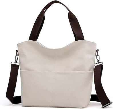 Hobo Handtaschen, DOURR Canvas Crossbody Taschen für Frauen Mode Crossover Geldbörse Baumwolle Schultertasche