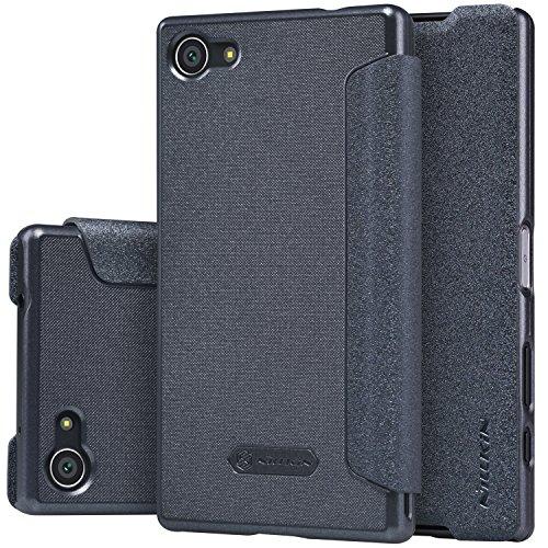 """OFU® Hochwertigem Flip Case/Hülle/Tasche/Schutzhülle Für Sony Xperia X Compact 4.6"""" Hülle,Hohe Qualität Case Folio Tasche Cover -mit Standfunction,case für Sony Xperia X Compact 4.6"""" Smartphone-schwarz"""