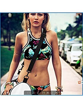 Conjuntos de Bikini Sexy Traje de Baño Trajes de Baño Moda Retro de Adelgazamiento Split Trajes Femeninos, Serie L