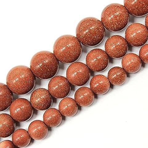JarTc Natural Round Red Sandstone Gemstone Beads For DIY Jewellery