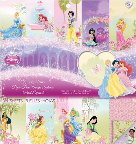 Ariel Scrapbooking (EK Success Disney Specialty Papier-Block, Prinzessin)