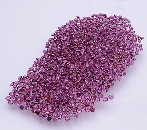 Be You Pourpre Rougeâtre Naturelle Indien Rhodolite AAA Qualité 1.5 mm Coupe Brillante Rond Caillou 10