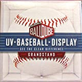 6 Ball Qube Grandstand Baseball Displays with UV Protection by BallQube