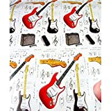Little Snoring Fender Guitar Gift Wrap by Little Snoring Ltd.