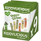 Kiddylicious Veggie Straws   Delicious Finger Food Kids Snack   Suitable for 9 Months+   9 Packs