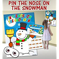 Pin the Nose on the Snowman (Pin the tail on the donkey style game)