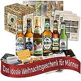 Weihnachtsgeschenke für Männer Papa Biere Deutschlands (6x0,33l) Geschenkidee Weihnachten | Weihnachtsgeschenkidee Weihnachtspräsent Wichtelgeschenk