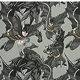 Dekostoff Batman schwarz grau