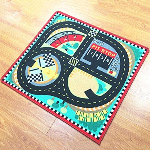 DSADDSD *Wohnzimmer teppiche Kinder Car Track Teppiche Kinder Teppich (90 * 100cm) * Geometrischer Teppich (Farbe : C, größe : 90 * 100cm)