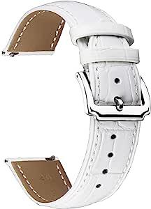 BINLUN Cinturini per orologi in vera pelle Donna Uomo Cinturino in pelle a sgancio rapido Sostituzione con opzione 12 colori (10mm,12mm,14mm,15mm,16mm,17mm,18mm,19mm,20mm, 21mm,22mm,23mm)