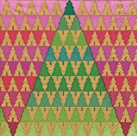 Christmas Lunch or Luncheon Napkins Paper Party Supplies Caspari Zig Zag Trees 40 Count