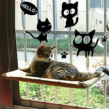 COUTUDI Matelas Suspendu à la Fenêtre à pour Chat, Bain-de-soleil, lit pour Chat Confortable, pour gros Chat Jusqu'à 15 kg