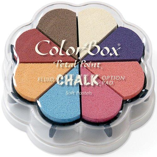 Colorbox Craie Liquide-Pastels Doux Petal Point Option Pad d'encre dans 8Couleurs, Multicolore