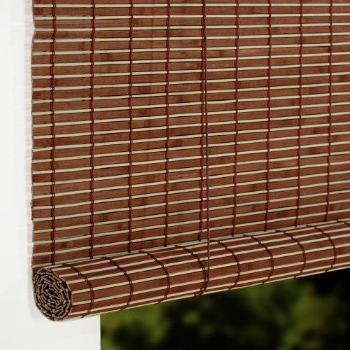 Liedeco Rollo Holz Mit Seitenzug Holzrollo Fur Fenster Und Tur Braun B 140 Cm X L 17