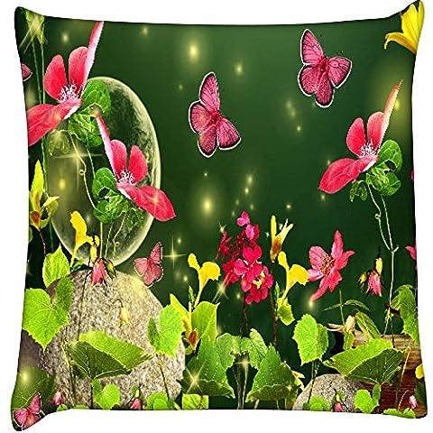 lucioles et papillons 2629Home Decor Throw Canapé de voiture Housse de coussin Taie d'oreiller 61x 61cm