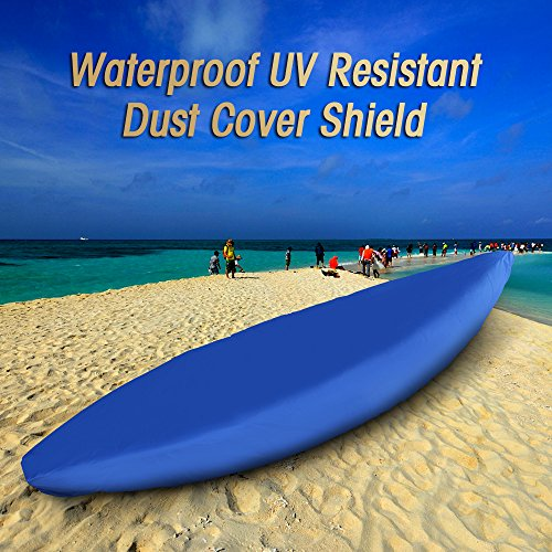 615BTHUUKfL. SS500  - Explopur Blue Kayak Cover - Professional Universal Waterproof UV Resistant Dust Storage Canoe Boat Cover Shield - for…
