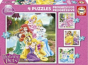 Puzzles Educa - Palace Pets, Rompecabezas progresivos, 12-16-20-25 Piezas (16172)