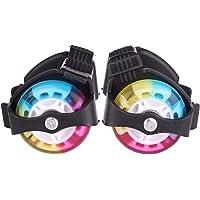 SUPER TOY Adjustable 2 Wheel Roller Skates with LED Flash Light for Kids