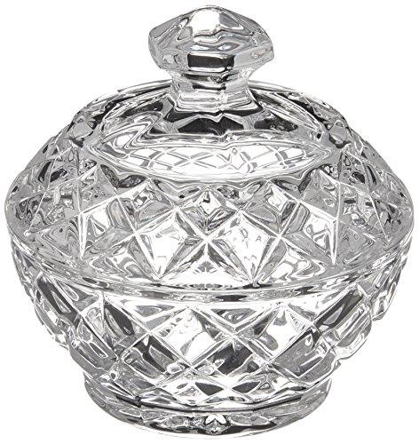Belleek Pottery Galway Crystal Ashford Trinket Box, 3.7-Inch, Clear, Set of 1 Galway Crystal Set