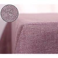Deconovo Tovaglia in Lino Anti-macchia Tovaglia per Tavolo Impermeabile Rettangolare 150x300 CM Violetto