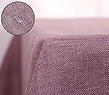 Deconovo Tischdecke Wasserabweisend Tischwäsche Lotuseffekt Tischtuch Leinenoptik 130x130 cm Adzukibohne Rot