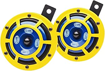 Hella Yellow Panther Horn Set (12V,350/415 Hz,105-118 dB @ 2m)
