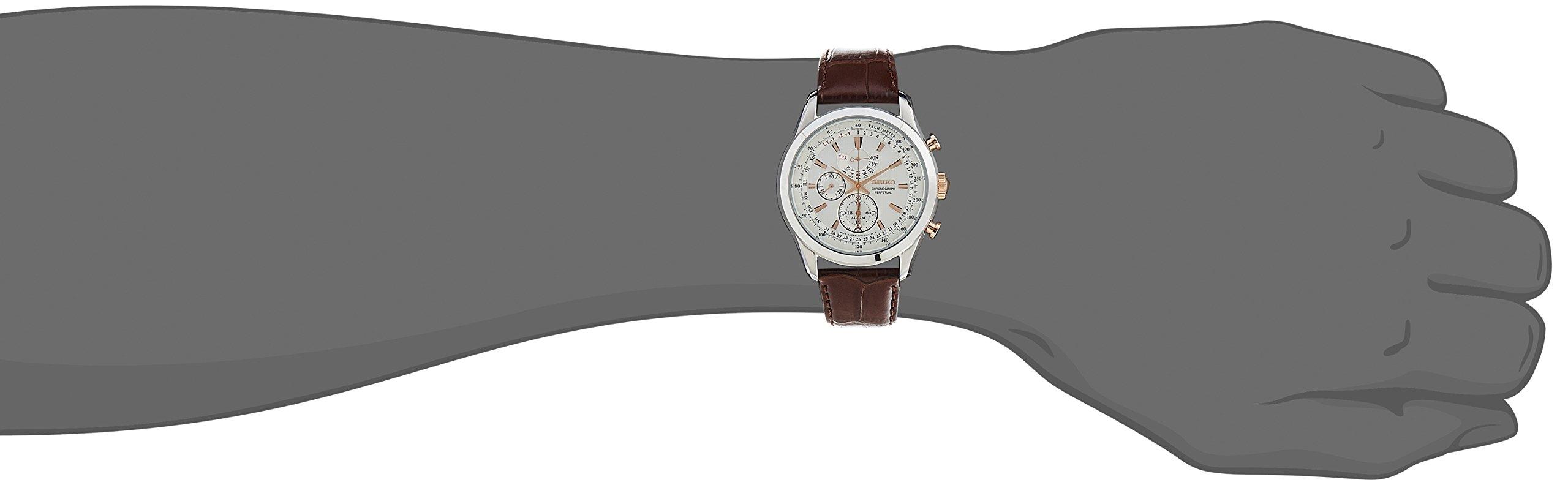Seiko Dress Chronograph White Dial Men's Watch-SPC129P1