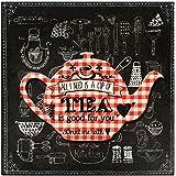 Promobo - Tableau Déco Bistrot Cadre Rétro Vintage Vichy Tea Is Good For You Luxe 28 x 28 cm