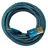 [Premitech®] 0,5m | 50cm Premium Nylon Micro USB Ladekabel Datenkabel kompatibel mit [Universal, Handy, Tablet, Smartphone, Samsung Galaxy, HTC, Nokia, Sony, LG, Nexus, und viele mehr...] blau