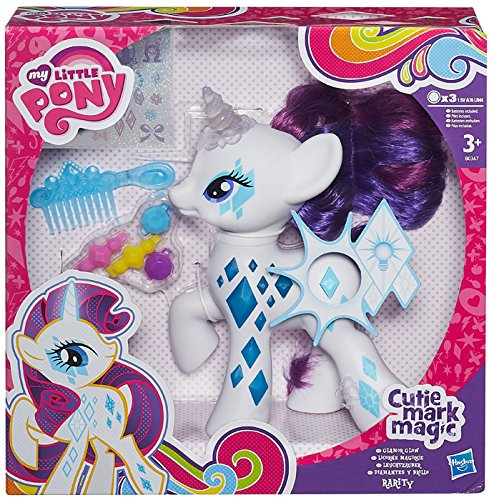 My Little Pony - Rarity luces y destellos, figura con accesorios (Hasbro B0367EU4)