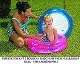 Jlong Idea Estate: Piscina tonda celeste per gioco bimbi mare spiaggia giardino; cm 62*19 a due anelli