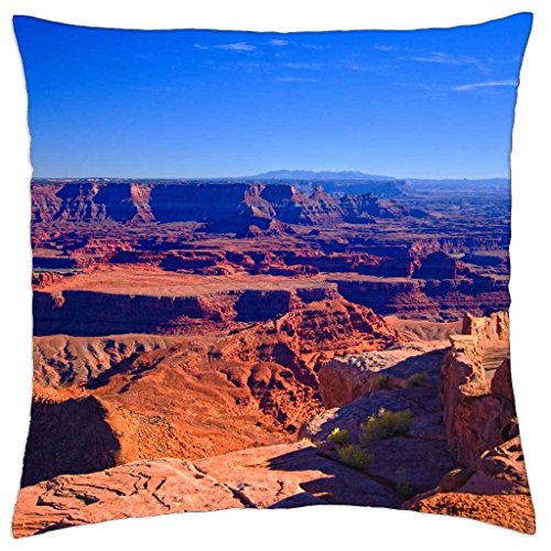 "Dead Horse Point, Moab, Utah - Throw Pillow Cover Case (18"" x 18"")"