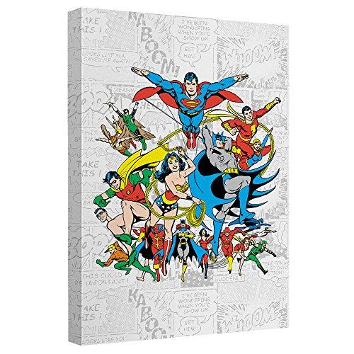 uares Leinwand Wand Kunst mit Rückwand 8x12 weiß (Classic Joker Kostüm)