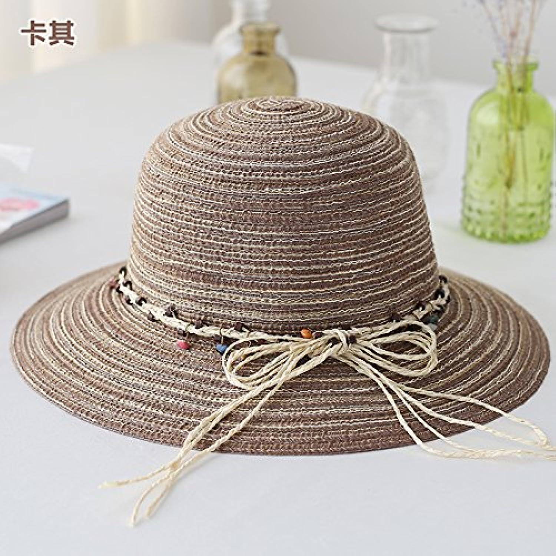 GAOQIANGFENG donna UPF Hat 50 Hat UPF Estate Femmina Sunscreen Hat Finta  Paglia Intrecciata Hat Cappello di Pesca Estate... Parent 501bf6 3d23edc23552