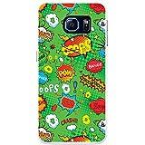 Comic-Aktionen Grün Bang Pow Wow Crash Hartschalenhülle Telefonhülle zum Aufstecken für Samsung Galaxy S6 (SM-G920)