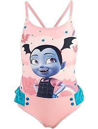 1f1f21fa5d62 Vampirina Disney Costume Intero 1 Pezzo con Volant Mare Piscina - Bambina -  Prodotto Originale con