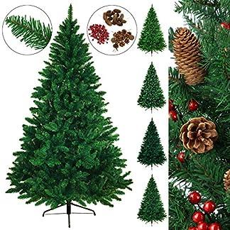 BB-SPORT-Christbaum-knstlicher-Weihnachtsbaum-Tannenbaum-in-verschiedenen-Gren-und-Farben-inkl-Standfu-knstliche-Tanne-mit-Klappsystem
