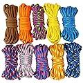 UOOOM 10er Paracord Set Seile Schnüre DIY Handgemachte Webart für Armband Schlüsselanhänger Anhänger von UOOOM
