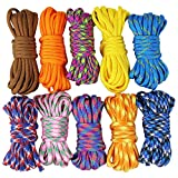 UOOOM 10pcs Multicolore Multifonction Paracordes pour Parachute Bracelet (Multicolore...