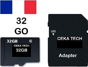 Scheda di memoria SAMSUNG GALAXY J7 (2017), CEKA TECH® Micro-SD da 32GB classe 10 con adattatore SD