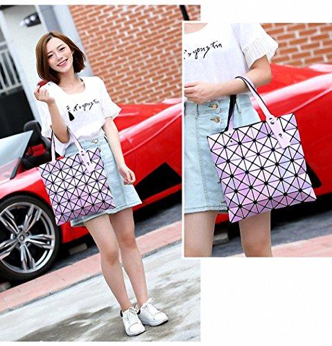 Traliccio Ladies colori Laser Borsa diamante geometrica della moda di lusso Borsetta tracolla Borsa da shopping rosso Purple