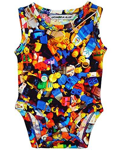 Inchworm Alley Lego People - Unisex Baby Bodysuit Onesie, 100% Organic Cotton