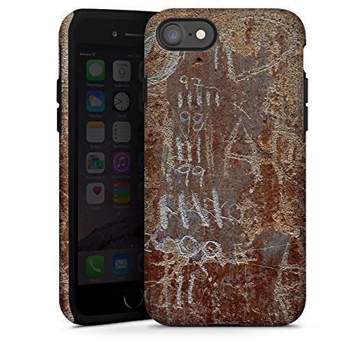 Apple iPhone X Silikon Hülle Case Schutzhülle Rost Look Kratzer Tough Case glänzend