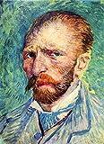 Das Museum Outlet–Selbstporträt mit hellblau Krawatte von Van Gogh, gespannte Leinwand Galerie verpackt. 50,8x 71,1cm