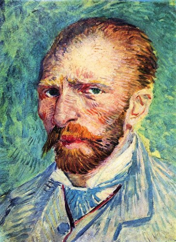 Das Museum Outlet-Selbstporträt mit Licht blauer Krawatte von Van Gogh-Poster Print Online kaufen (101,6x 127cm)