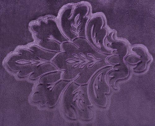 Woltu mb mb vl specchiera con sgabello viola ben imbottito