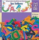 150 gommettes autocollantes : Les lettres de l'alphabet...