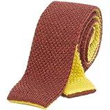 40 Colori - Cravatta a maglia double-face in lana pura